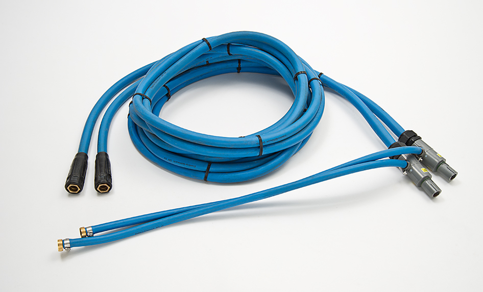 The power cable for water cooled induction units for use with water cooled coil inductors or custom designed inductors.