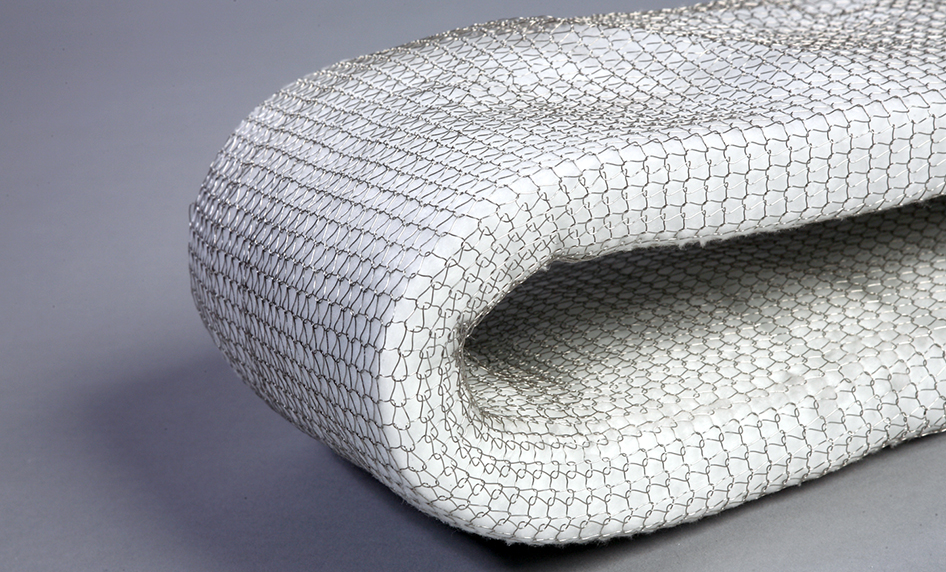 Ceramic fibre in wire mesh