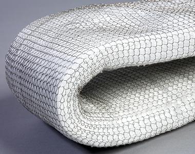 Ceramic fibre in wire mesh